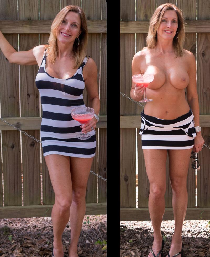 Goła mamuśka i w sukience