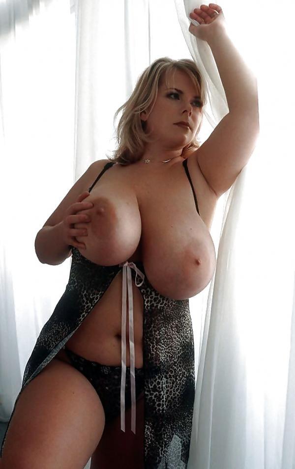 Duże piersi pulchnej mamy