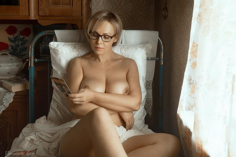 Mamuśka w okularach